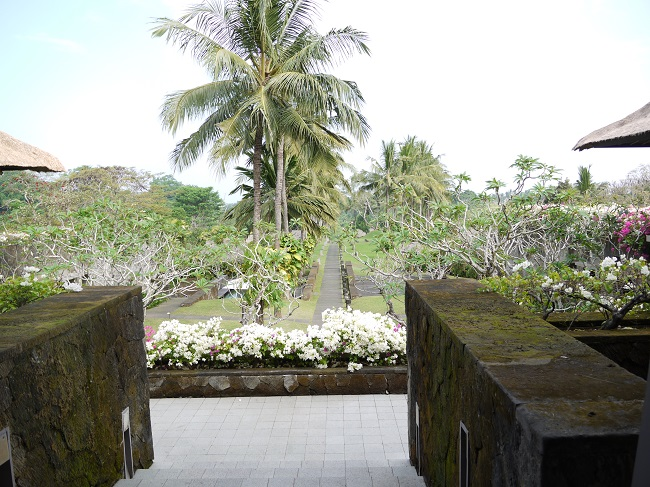 マヤ ウブド リゾート アンド スパ ロビーからの景色