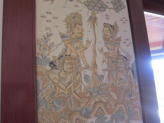 ディスカバリー・カルティカ プラザ ホテル デラックスガーデン 扉に描かれた独特の絵