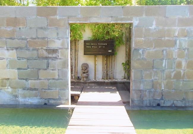 ザ・アマラ スミニャック プールヴィラ、レジデンスヴィラエリアの入り口